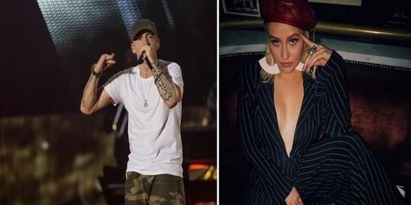 Eminem and Christina Aguilera