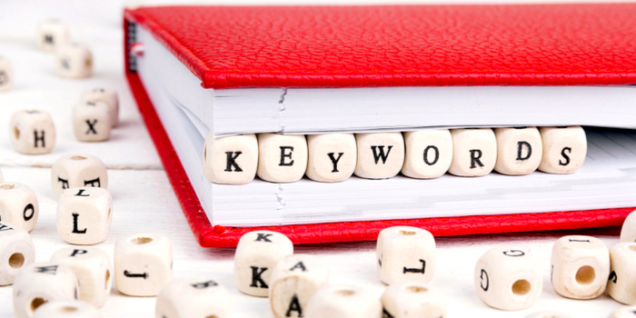 word search online - dice with the 'key words' written on them