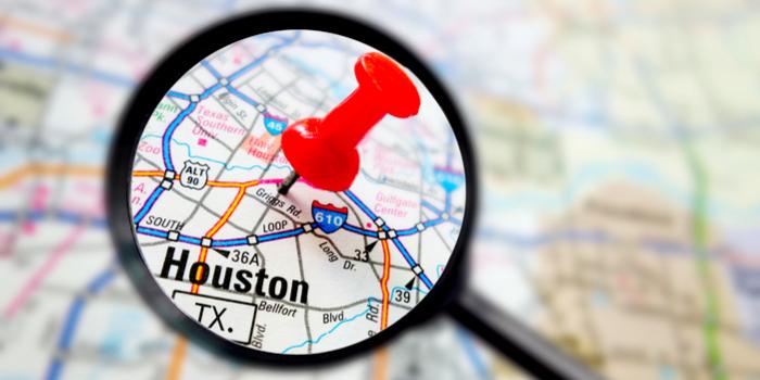 texas houston texas - a map of Houston