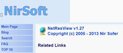 NirSoft NetResView