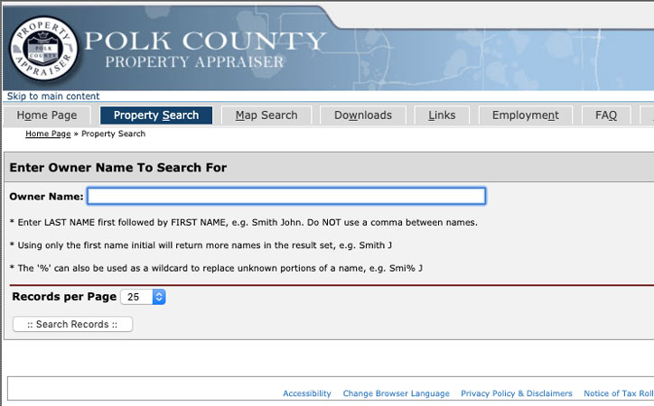 Public Property Records