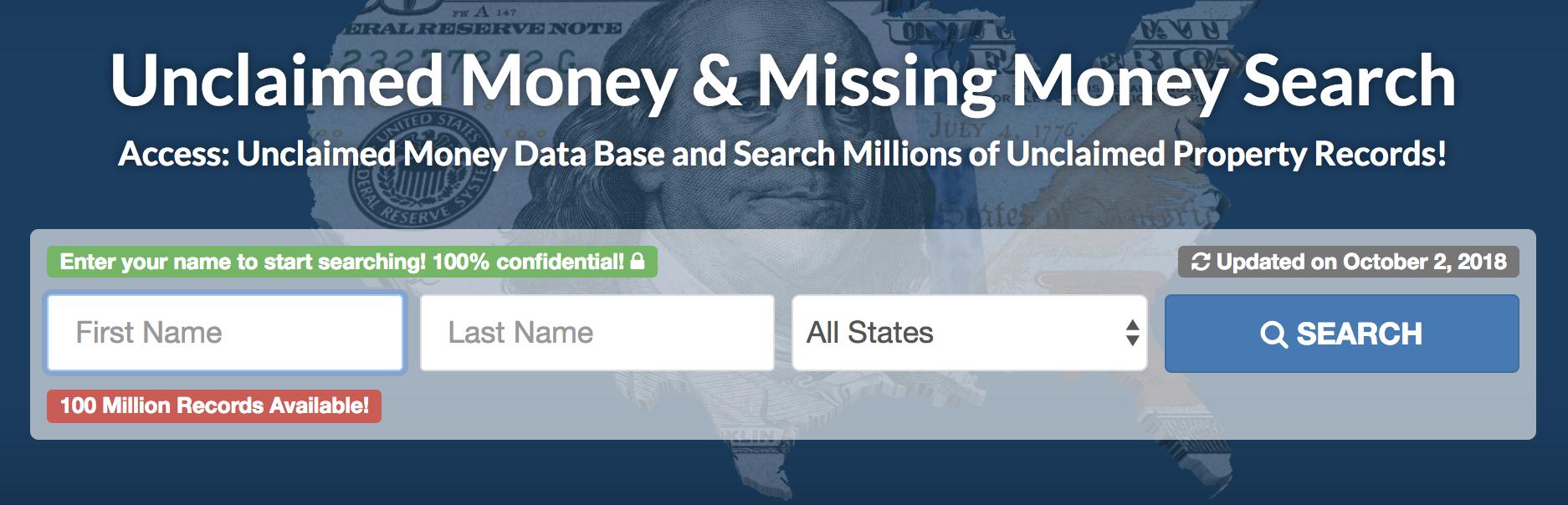 United States Unclaimed Money