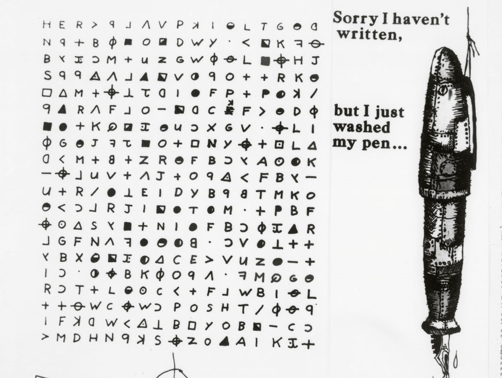 a note by the zodiac killer