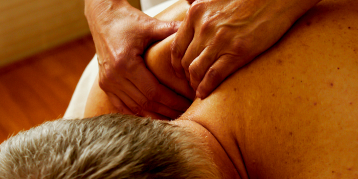 gifts for dad - a man getting a massage