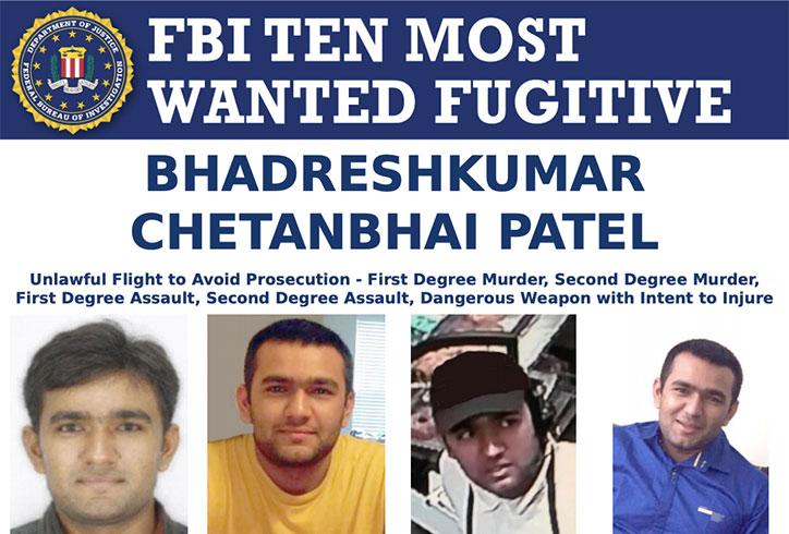 FBI Most Wanted Bhadreshkumar Chetanbhai Patel
