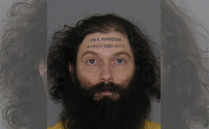 crazy mugshot Christopher Wilson