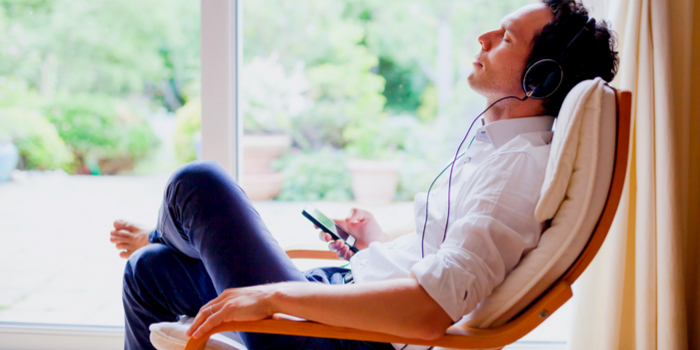 how to make a good impression on a first date - a man listening to music