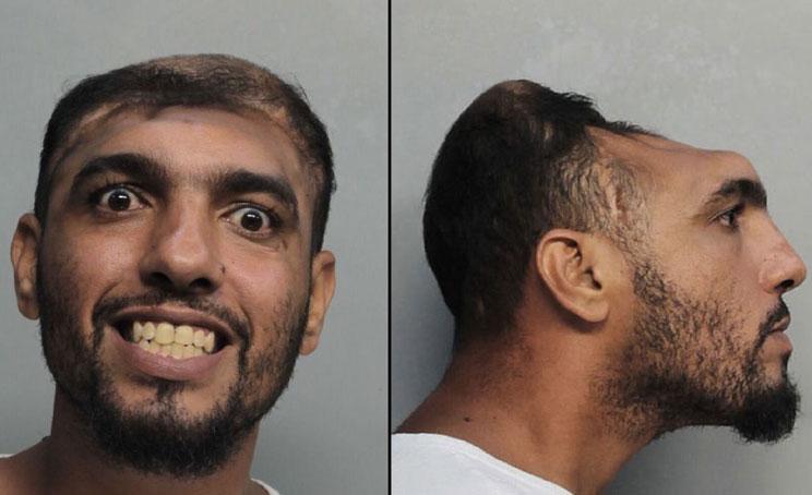 crazy mugshot