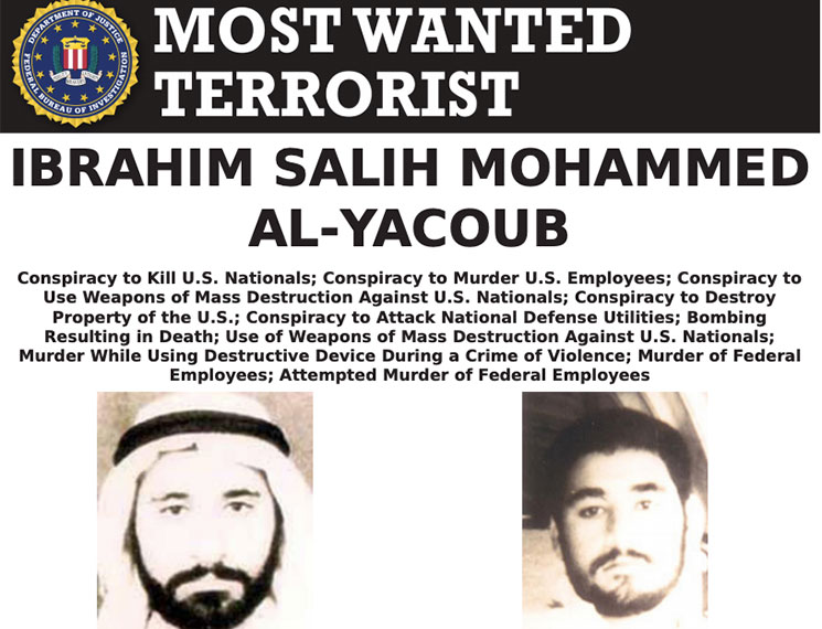 Most Wanted Terrorists by the FBI Ibrahim Salih
