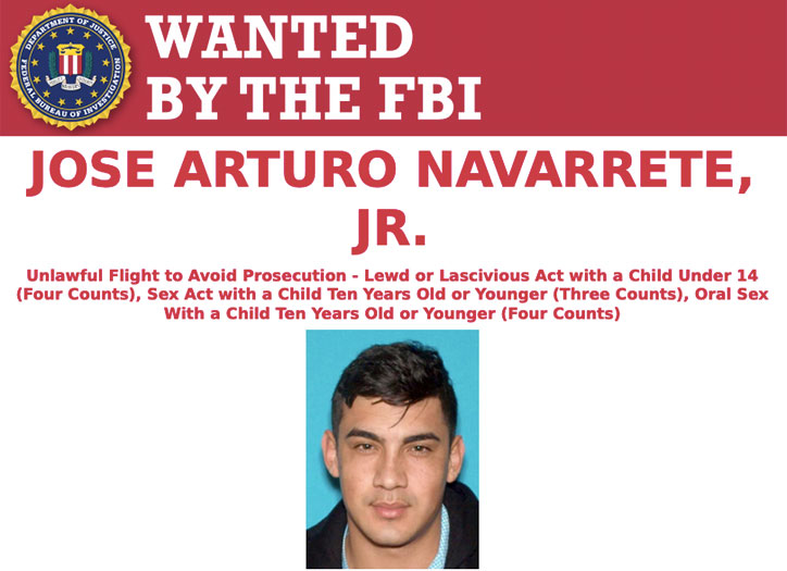 Most Wanted Fugitives by the FBI Jose Arturo Navarrete