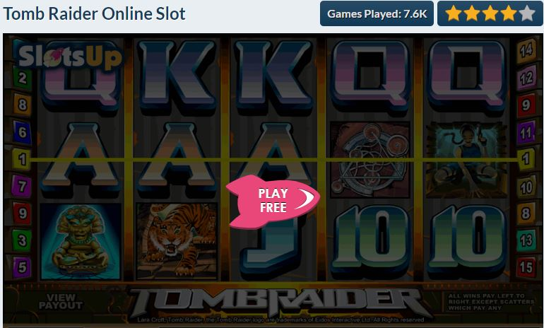 free slots for iPad - Tomb Raider Slot