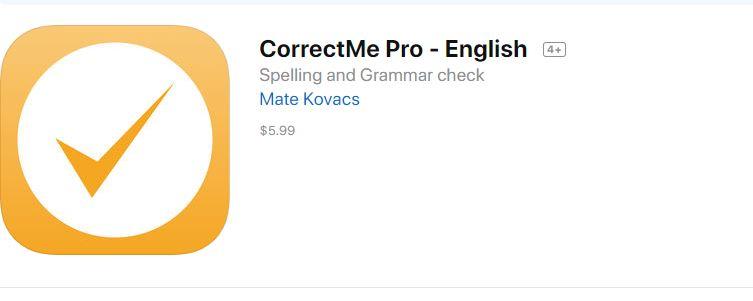 CorrectMe spell check app