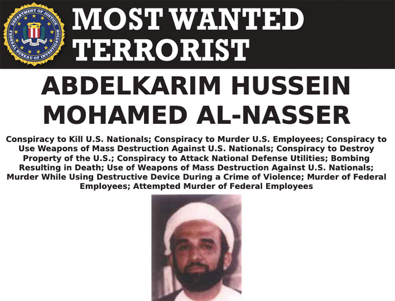 Most Wanted Terrorists by the FBI Abdelkarim Hussein