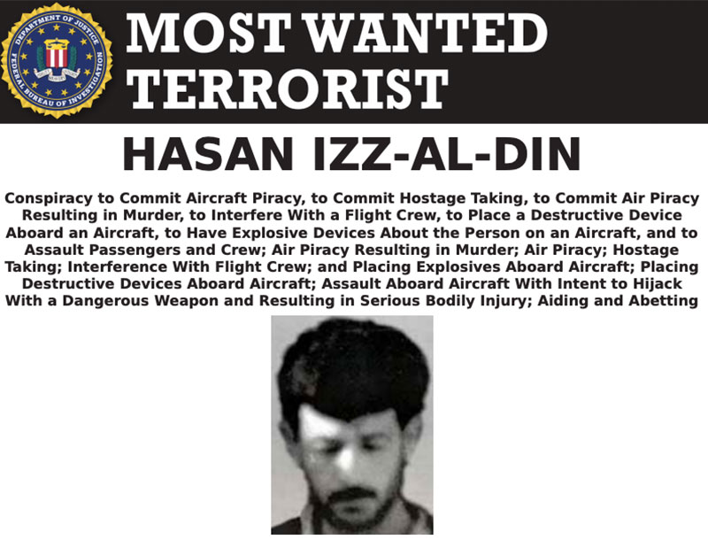 Most Wanted Terrorists by the FBI hassan iz al din