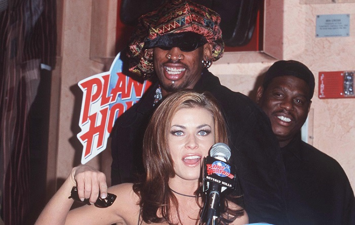 short celeb marriages - Carmen Electra and Dennis Rodman