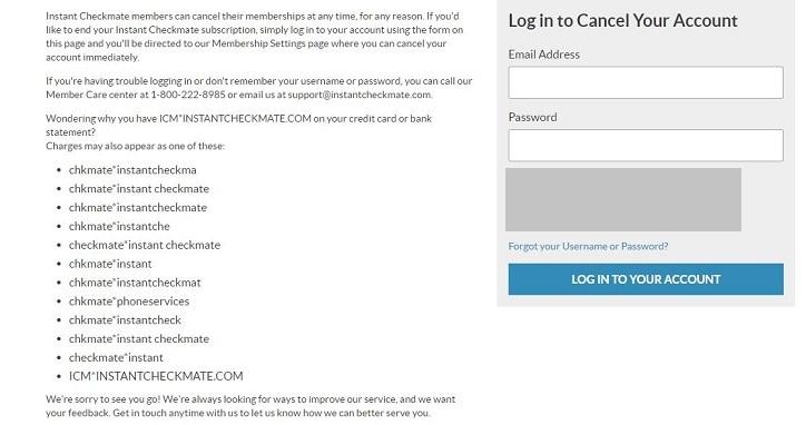 How to Cancel InstantCheckMate.com